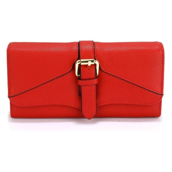 LSP1042A – red buckle detail purse wallet_1_
