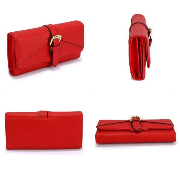 LSP1042A – red buckle detail purse wallet_3_