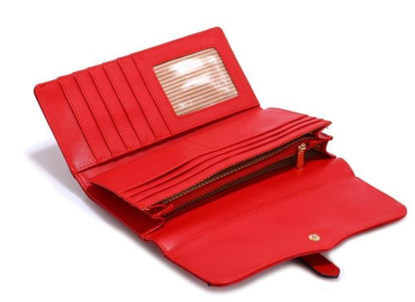 LSP1042A – red buckle detail purse wallet_4_