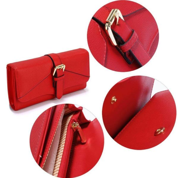 LSP1042A – red buckle detail purse wallet_5_
