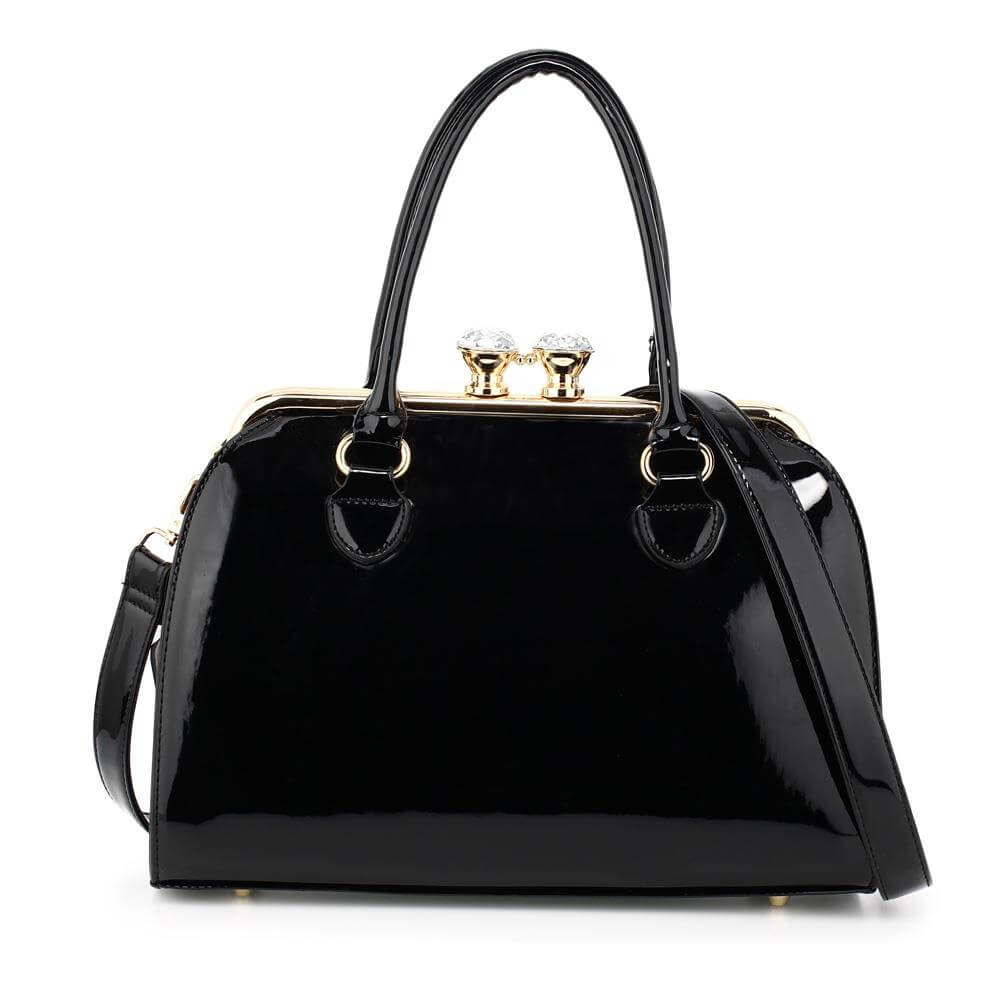 black-patent-satchel-with-metal-frame