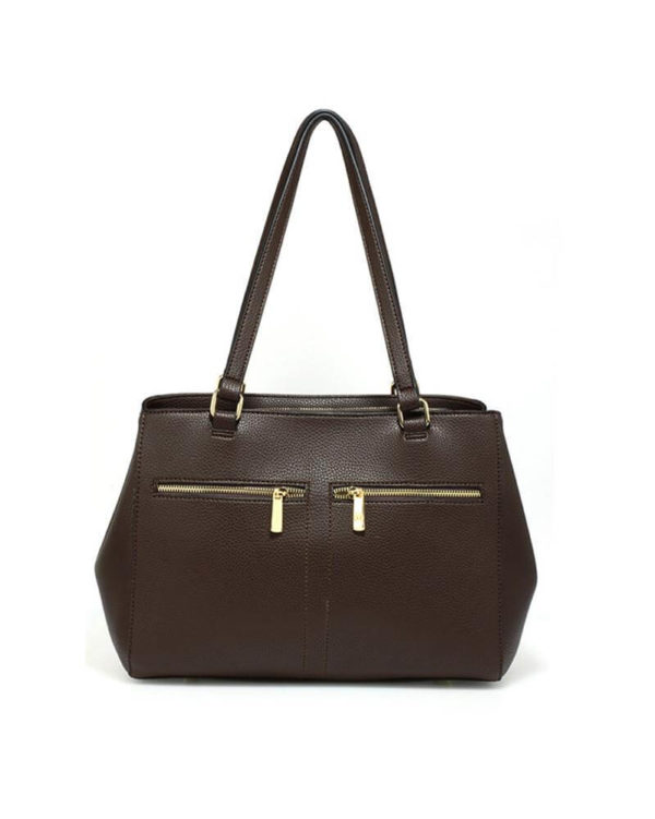 ag00526 front pockets tote bag coffee