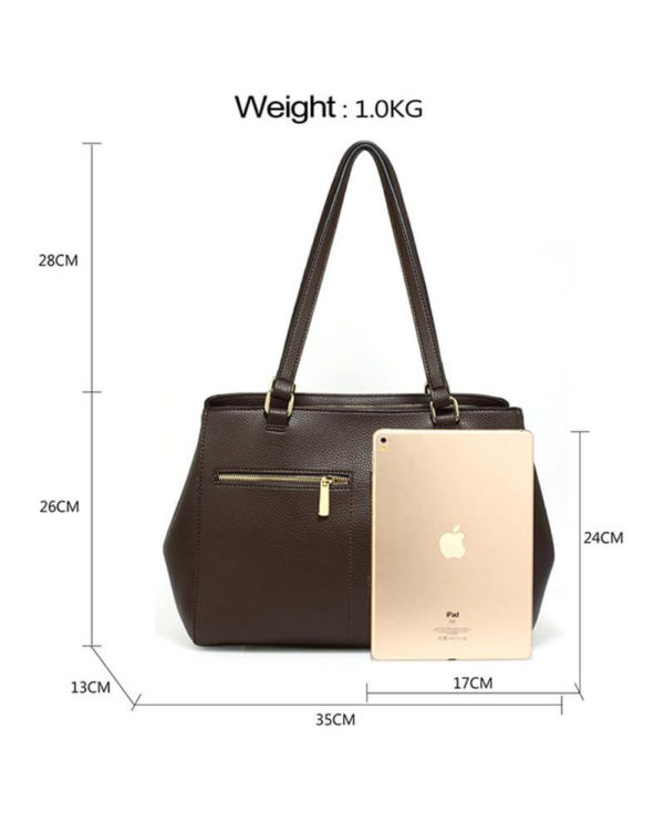 ag00526 front pockets tote bag coffee_3_2