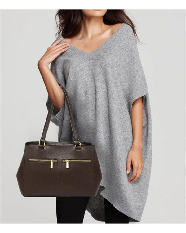 ag00526 front pockets tote bag coffee_3_6