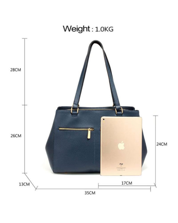ag00526 front pockets tote bag navy _1_2