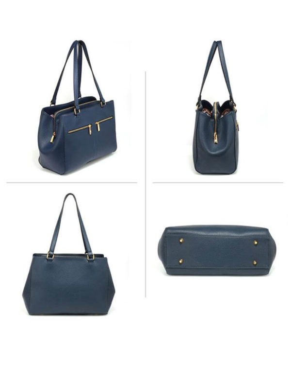 ag00526 front pockets tote bag navy _1_3
