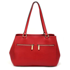 front pockets tote bag red