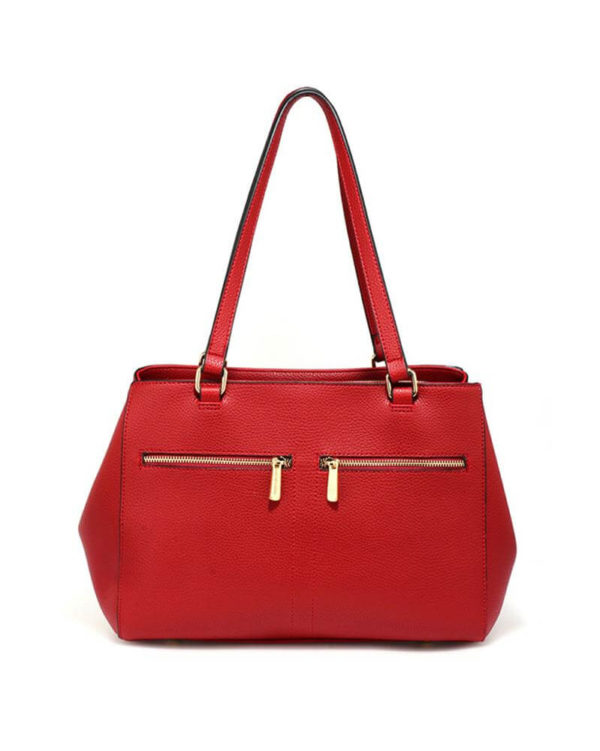 ag00526 front pockets tote bag red _