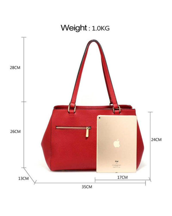 ag00526 front pockets tote bag red _1