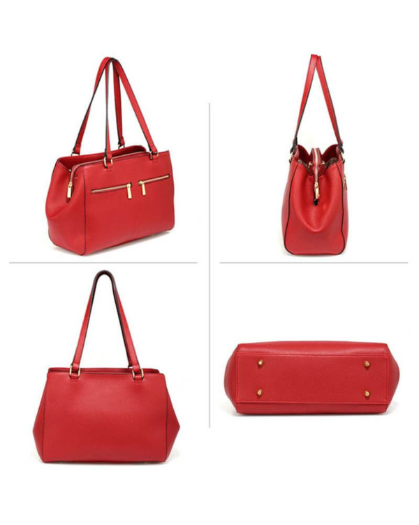 ag00526 front pockets tote bag red _2