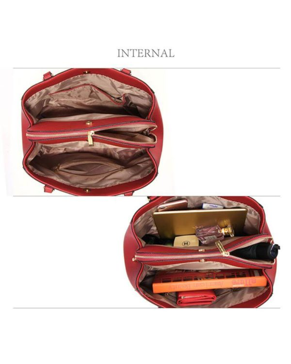ag00526 front pockets tote bag red _3
