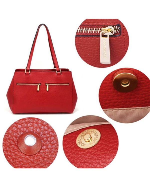 ag00526 front pockets tote bag red _4