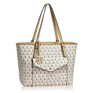 white womens large tote bag