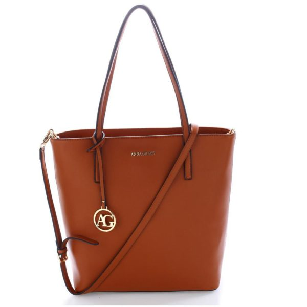 ag00564 brown – anna grace large tote shoulder bag