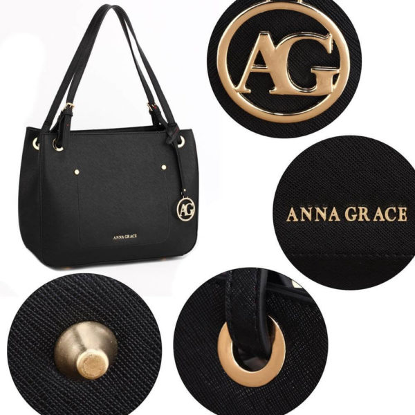 ag00570 – black anna grace fashion tote handbag_5_