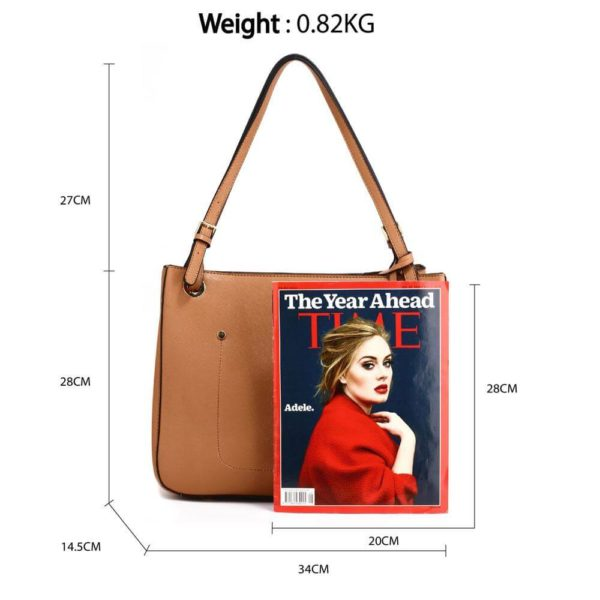 ag00570 – brown anna grace fashion tote handbag_2_