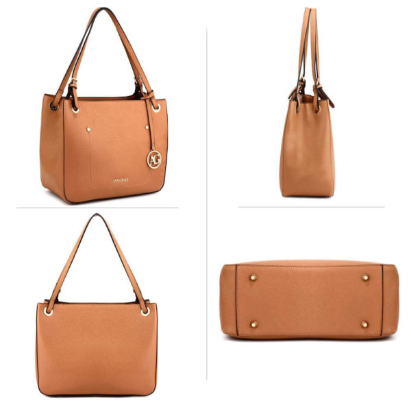 ag00570 – brown anna grace fashion tote handbag__3_