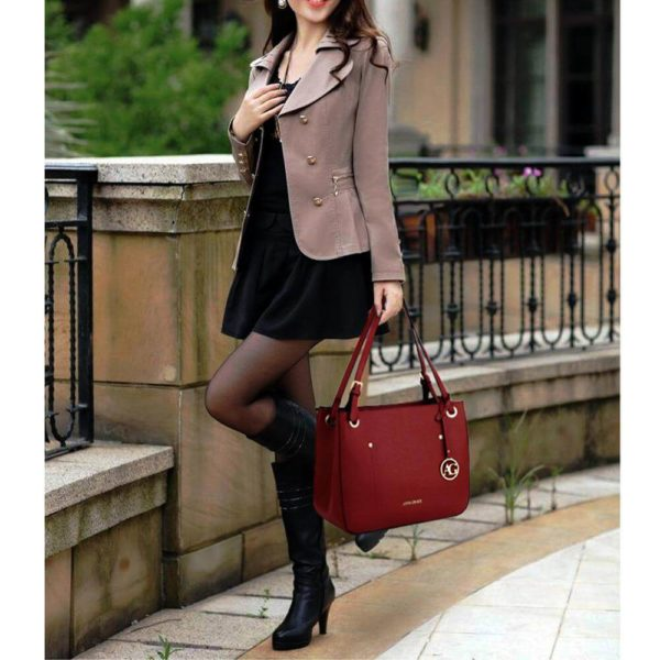 ag00570 – burgundy anna grace fashion tote handbag_6_