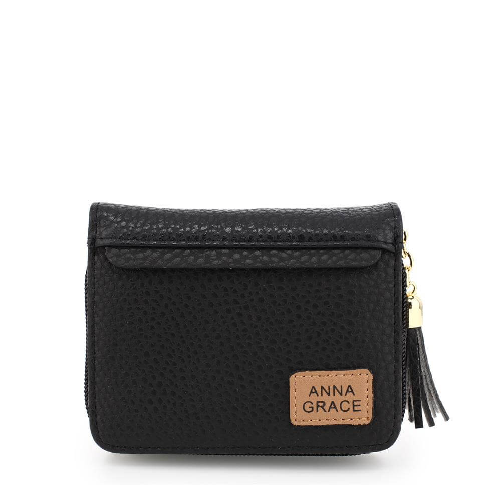 anna grace purse wallet with tassel