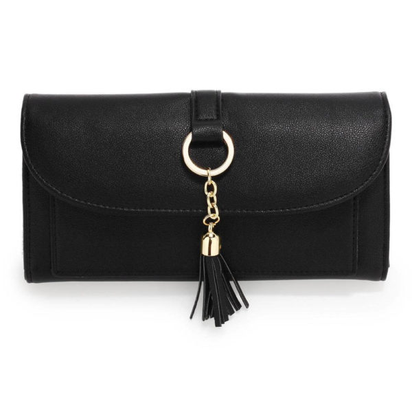 agp1091 – black flap purse wallet with tassel_1_