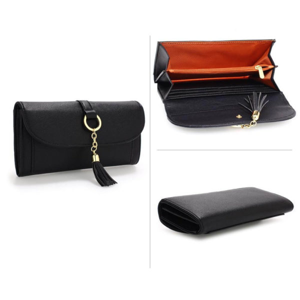 agp1091 – black flap purse wallet with tassel_3_