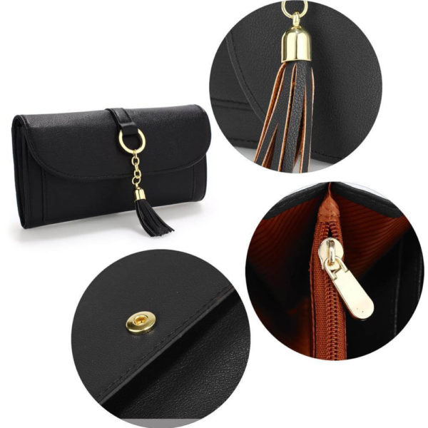 agp1091 – black flap purse wallet with tassel_4_