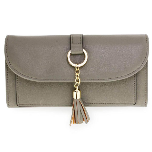 agp1091 – grey flap purse wallet with tassel_1_