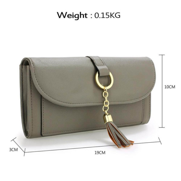 agp1091 – grey flap purse wallet with tassel_2_