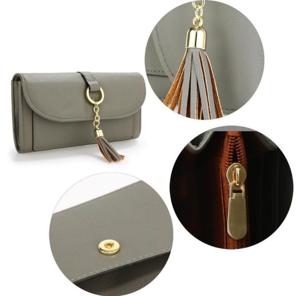 agp1091 – grey flap purse wallet with tassel_4_