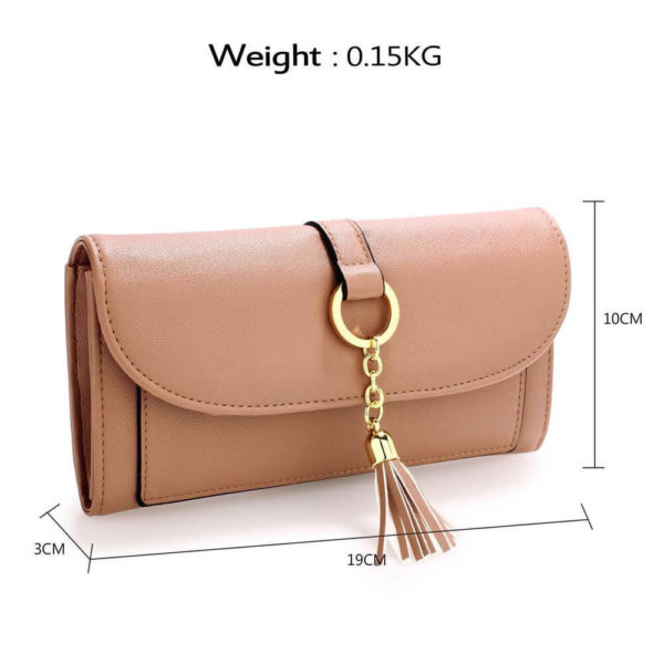 agp1091 – nude flap purse wallet with tassel_2_