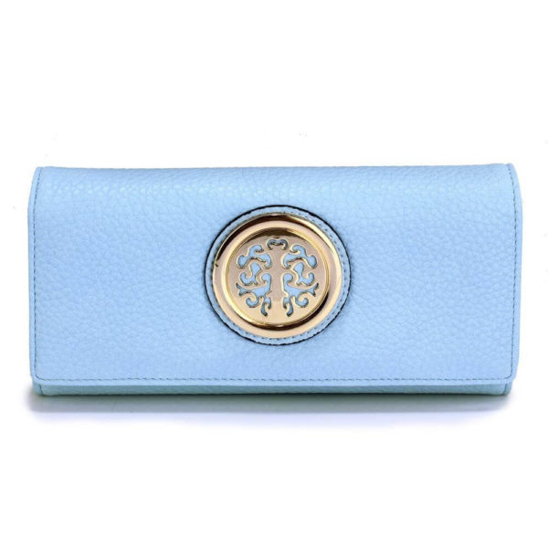 lsp1039a – blue purse wallet with metal decoration