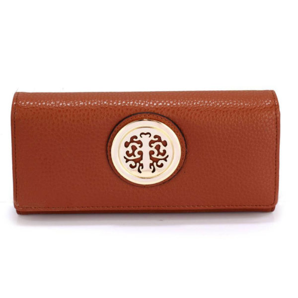 lsp1039a – brown purse wallet with metal decoration_1_