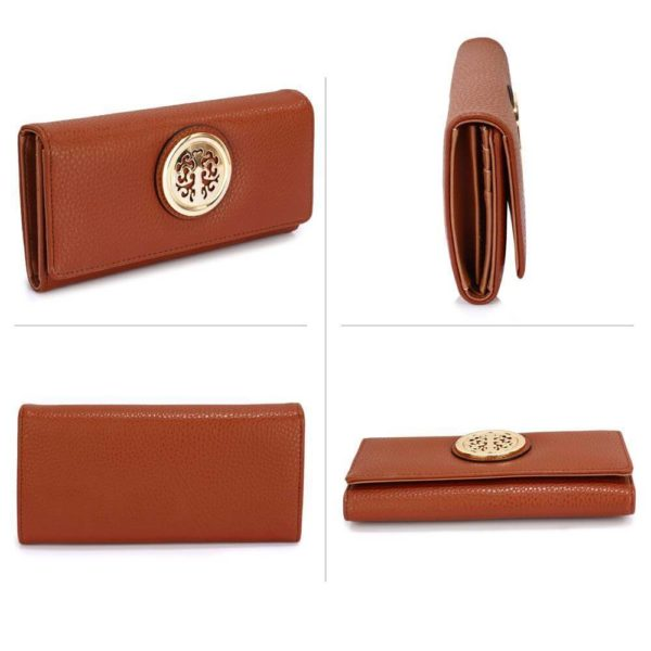 lsp1039a – brown purse wallet with metal decoration_3_