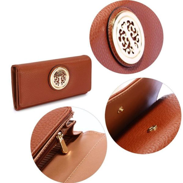 lsp1039a – brown purse wallet with metal decoration_5_