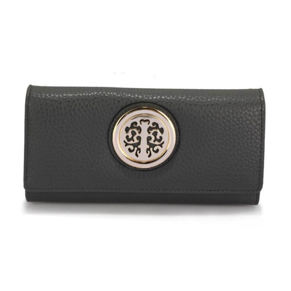 lsp1039a – grey purse wallet with metal decoration_1_