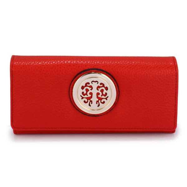 lsp1039a – red purse wallet with metal decoration_1_