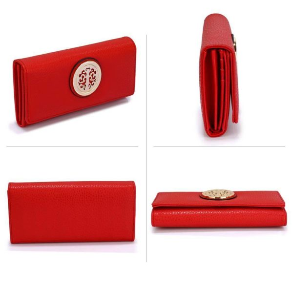 lsp1039a – red purse wallet with metal decoration_3_