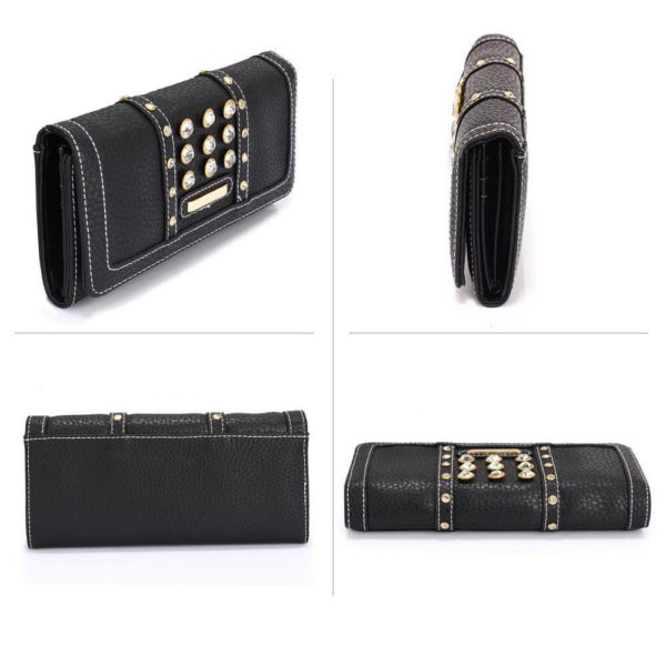 lsp1041a – black purse wallet with crystal decoration_3_