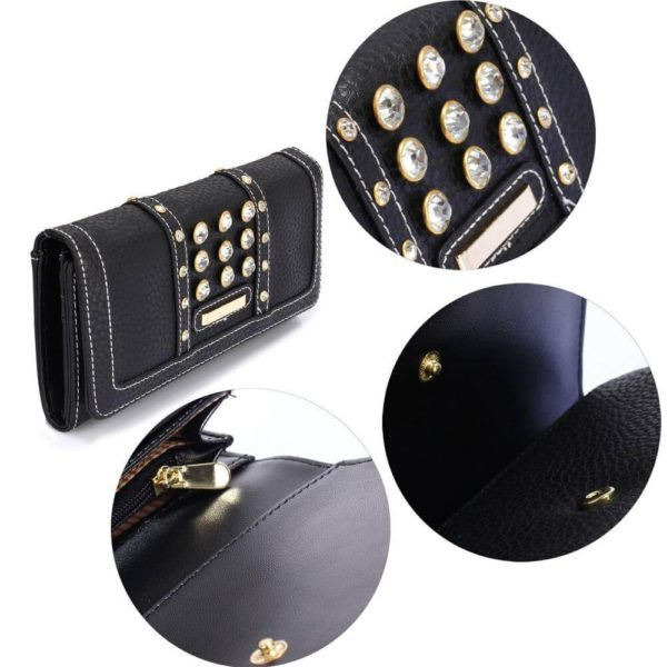 lsp1041a – black purse wallet with crystal decoration_5_