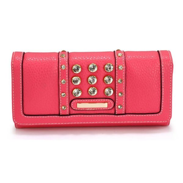 lsp1041a – pink purse wallet with crystal decoration_1_