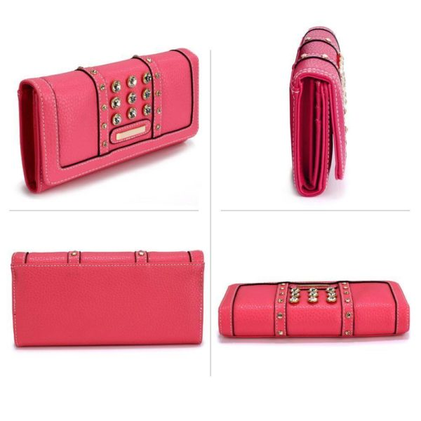 lsp1041a – pink purse wallet with crystal decoration_3_