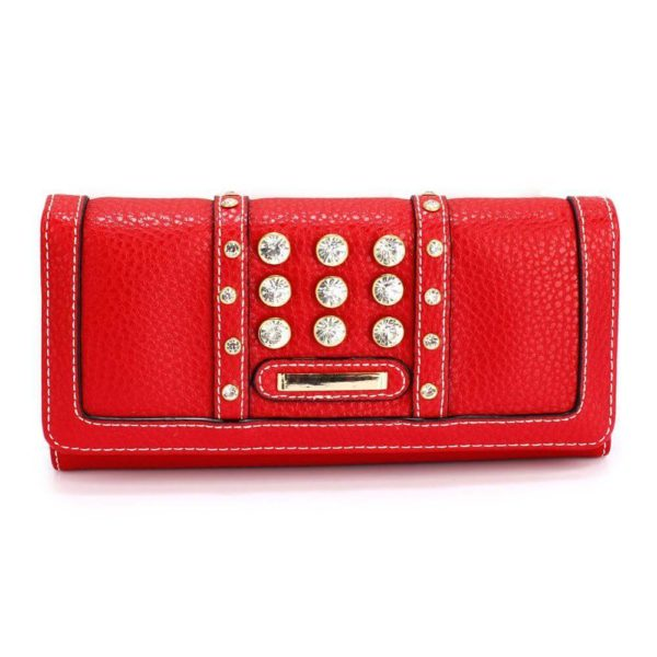 lsp1041a – red purse wallet with crystal decoration_1_