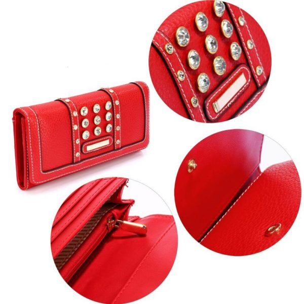 lsp1041a – red purse wallet with crystal decoration_5_