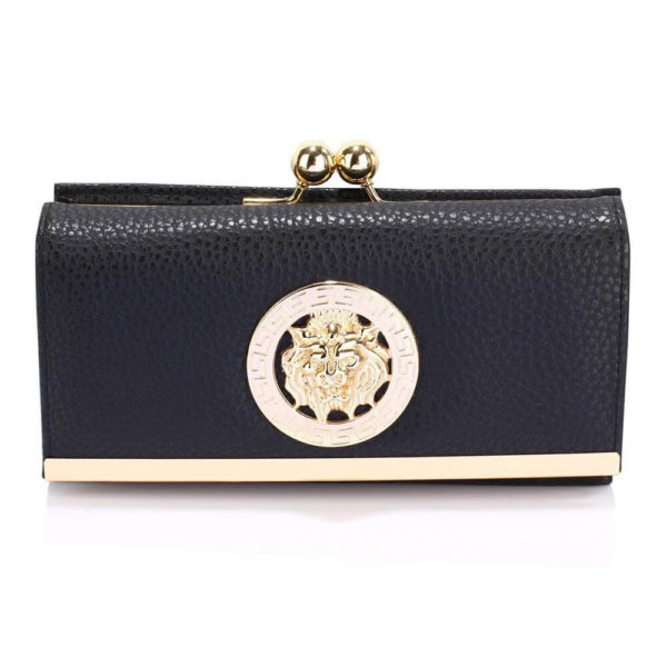 lsp1068a – black kiss lock purse wallet with metal decoration_1_