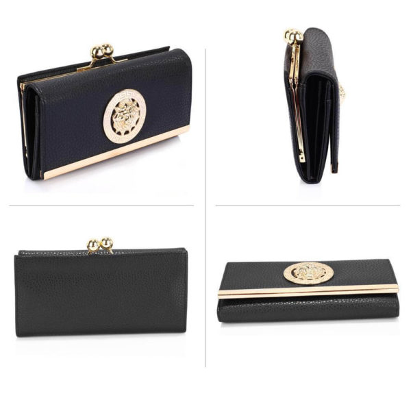 lsp1068a – black kiss lock purse wallet with metal decoration_3_