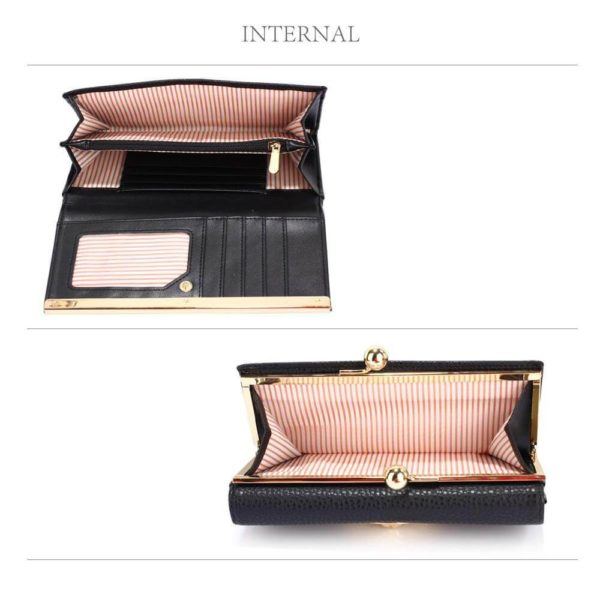 lsp1068a – black kiss lock purse wallet with metal decoration_4_