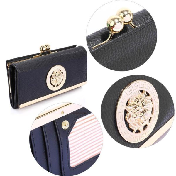 lsp1068a – black kiss lock purse wallet with metal decoration_5_