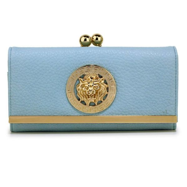 lsp1068a -blue kiss lock purse wallet with metal decoration_1_
