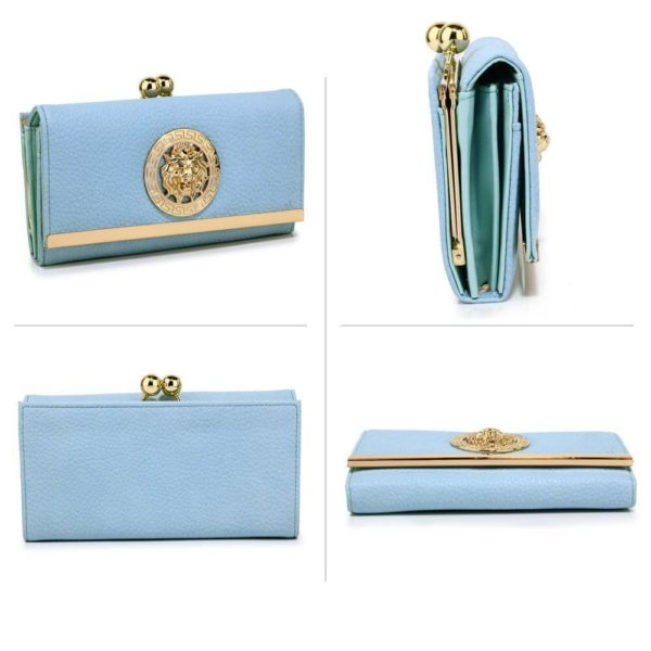 lsp1068a -blue kiss lock purse wallet with metal decoration_3_