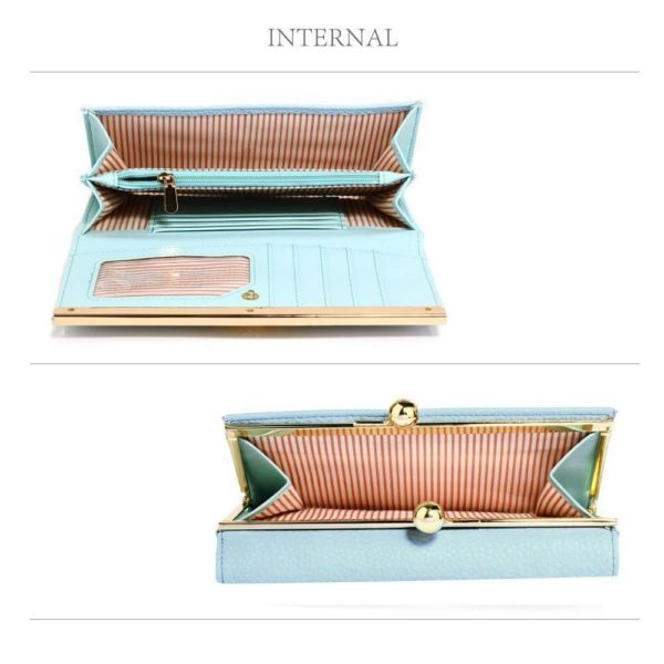 lsp1068a -blue kiss lock purse wallet with metal decoration_4_